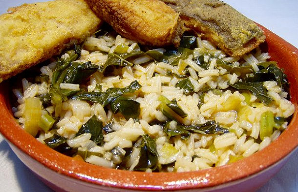 Portuguese Kale Rice Recipe
