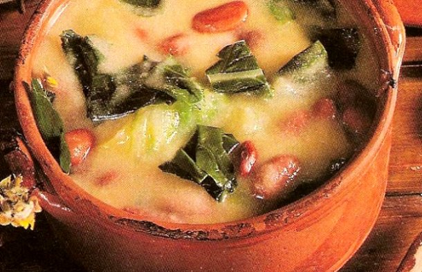 Portuguese Cornmeal & Kale Soup Recipe