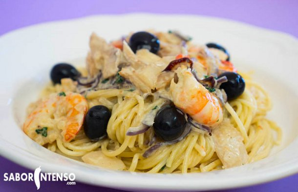 Portuguese Style Spaghetti with Cod and Cream Recipe