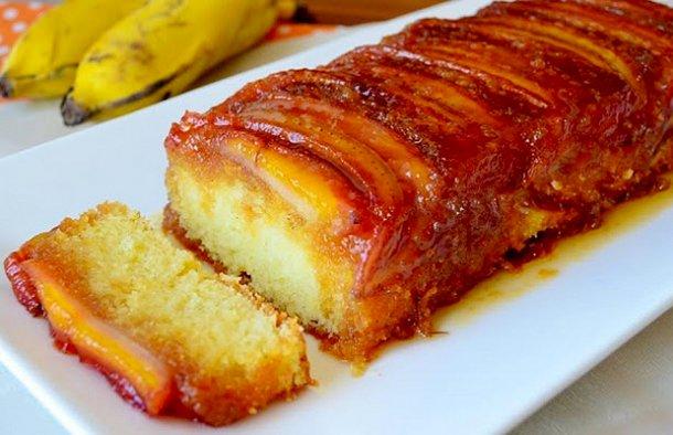 Portuguese Banana Caramelized Cake Recipe - Portuguese Recipes
