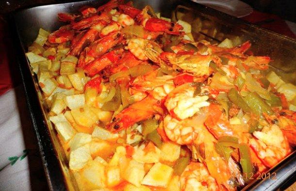 Portuguese Fried Cod with Shrimp Recipe