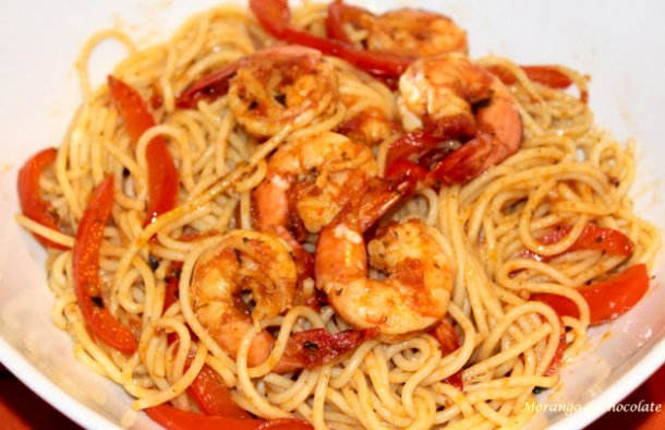 Portuguese Style Shrimp Spaghetti Recipe