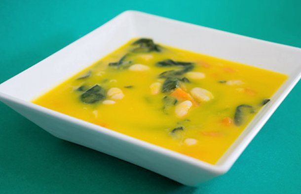 Portuguese Vegetable Soup with Spinach Recipe