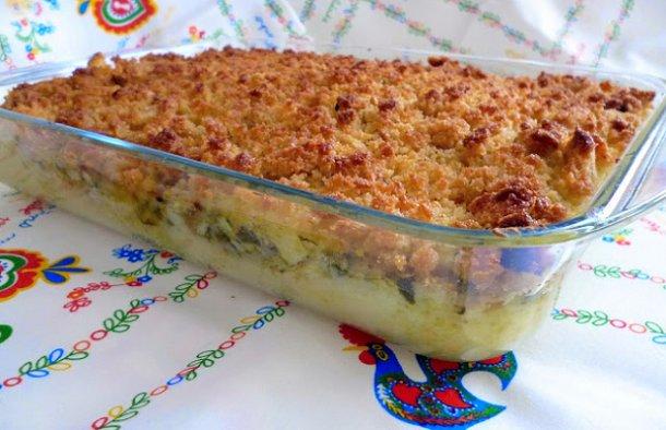 Portuguese Cod Empadão with Corn Bread Recipe