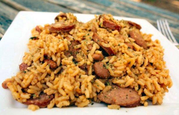 How to make Portuguese linguiça rice.