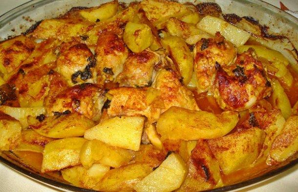 Portuguese Roasted Chicken & Potatoes Recipe - Portuguese Recipes