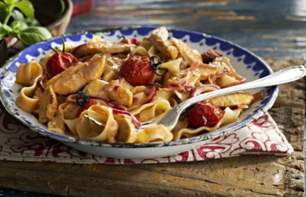 Portuguese Style Piri Piri Chicken Pasta Recipe