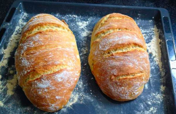 Portuguese Crusty Homemade Bread Recipe