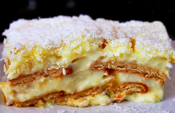 Portuguese Pineapple & Maria Cookies Cake Recipe