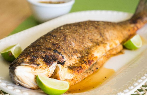 This delicious Portuguese lime roasted salmon recipe (receita de salmão no forno com lima) is great for any special occasion.
