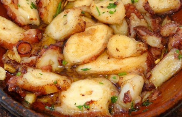 Portuguese Roasted Octopus with Garlic Sauce Recipe