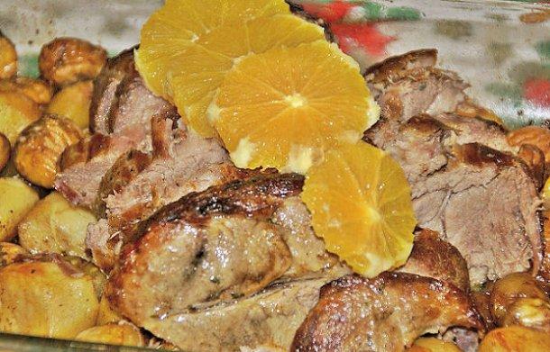 Portuguese Pork Loin with Orange Recipe