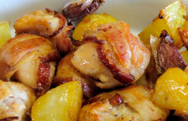 Portuguese Roasted Chicken with Bacon & Beer Recipe