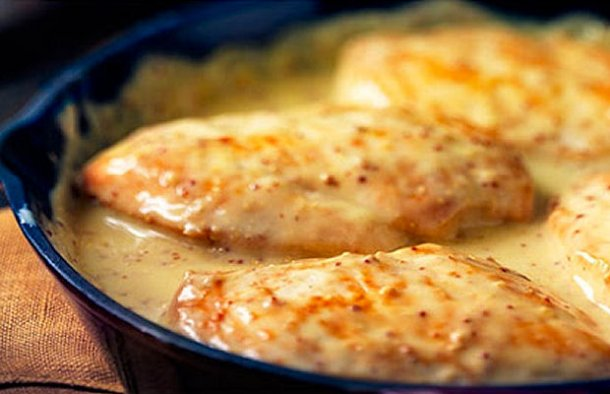 Creamy Chicken Steaks Recipe