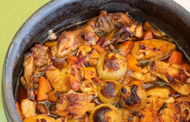 Portuguese Roasted Chicken with Port Wine Recipe