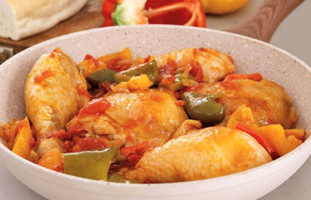 This delicious Portuguese style chicken primavera (frango primavera) makes a great family meal any day of the week.