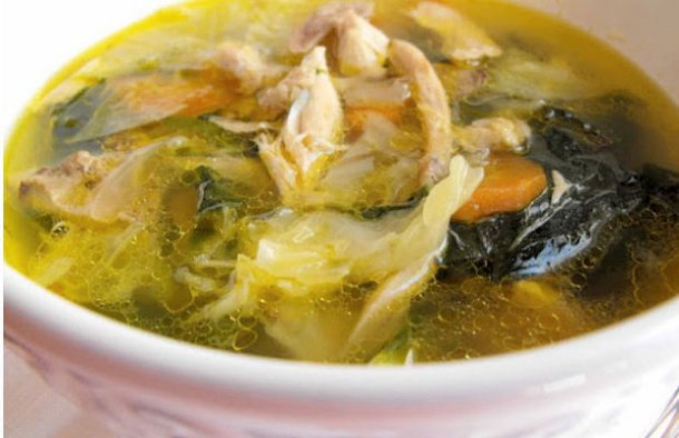 Portuguese Chicken with Kale Soup Recipe - Portuguese Recipes
