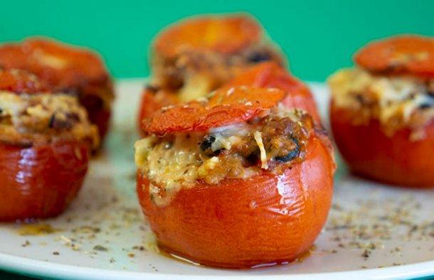 Portuguese Style Tuna Stuffed Tomatoes Recipe