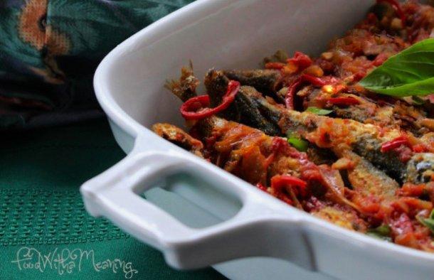 Portuguese Fried  Horse Mackerel with Sauce Recipe