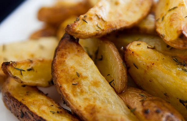 Portuguese Baked Potato Wedge Fries Recipe