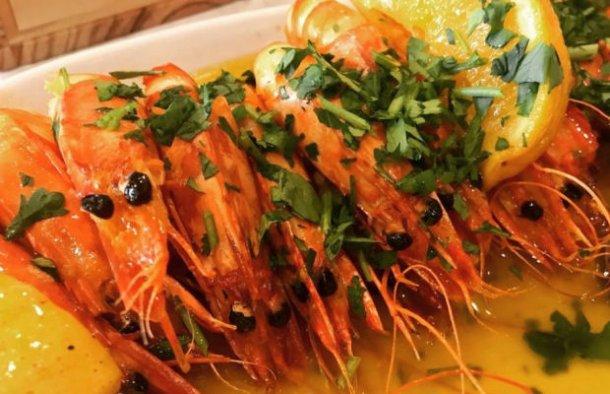 Portuguese Shrimp with Beer & Lemon Recipe - Portuguese Recipes
