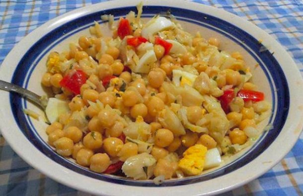Portuguese Cod & Chickpea Salad Recipe