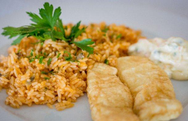 Portuguese Fish Fillets with Tomato Rice Recipe