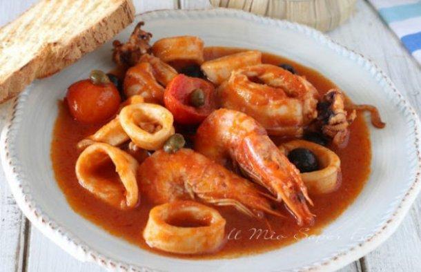 Portuguese Stewed Squid with Shrimp Recipe